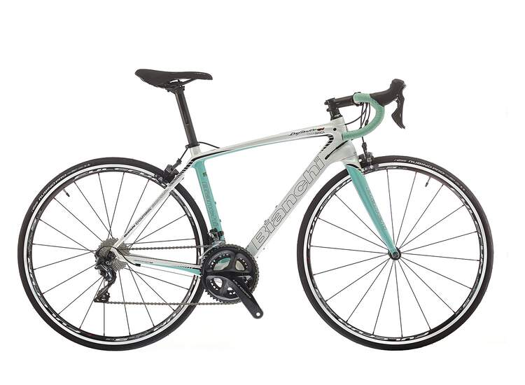 Bianchi Infinito CV Dama Bianca 2018 - Ultegra 11sp Compact 8P - Pearl white/CK16-Black glossy  47