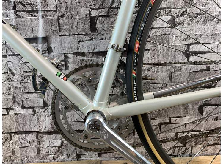 Vintage Bianchi Tipo Corsa 28t - 62cm Weiss met.