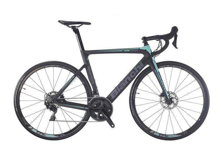 Bianchi Aria Disc - Shimano 105 11sp 52/36 - 2019 53 1D - CK16/black full glossy