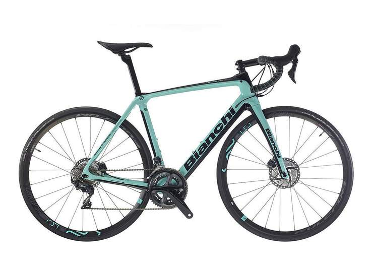 Bianchi Infinito CV Disc - Shimano Ultegra 11sp Compact - 2019 61 2A - CK16/black full glossy