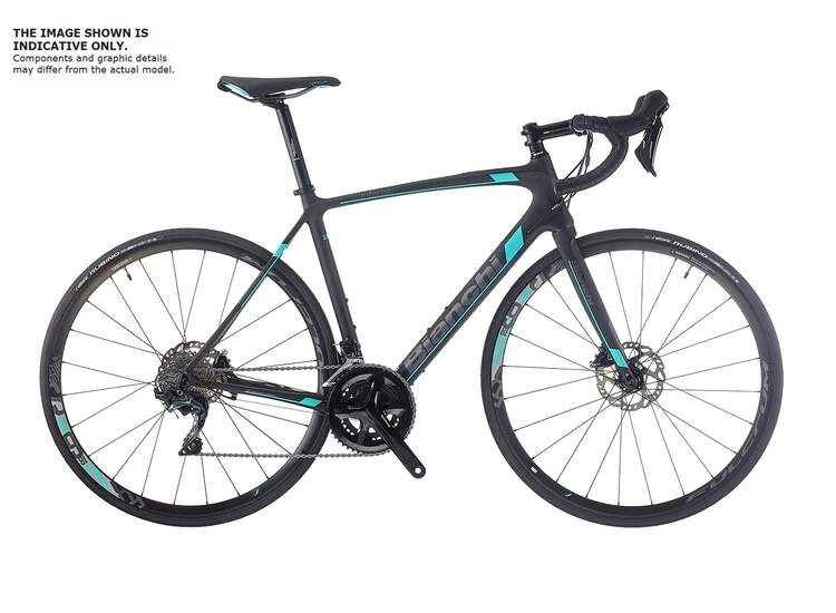 Bianchi Intenso Disc - Shimano full Ultegra 11sp Compact - 2019 44 KW - black/CK16 full matt