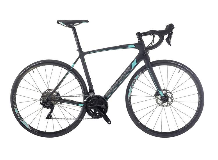 Bianchi Intenso Disc - Shimano full 105 11sp Compact - 2019 63 KW - black/CK16 full matt