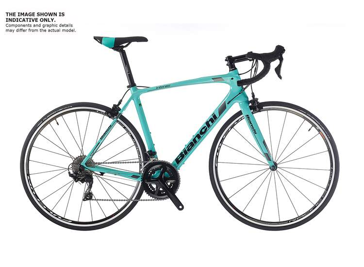 Bianchi Intenso - Campagnolo Centaur 11sp Compact - 2019 61 2A - CK16/black full glossy