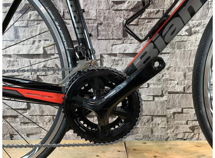 Bianchi Via Nirone 7 - Shimano 105 11sp Compact - 2019 59 Black/red-graphite full glossy