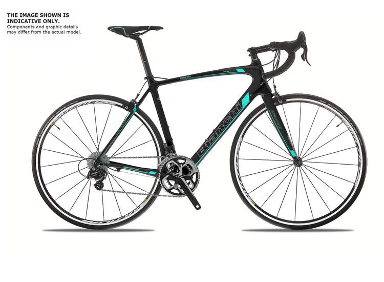 Bianchi Intenso Dama Bianca - Shimano 105 11sp Compact - 2019 50 9L - Black/CK16 white fully glossy