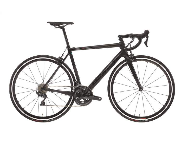Bianchi Rennrad Specialissima - Shimano Dura Ace 11sp Compact - 2020 5K-CK16 / Black Full Glossy 50