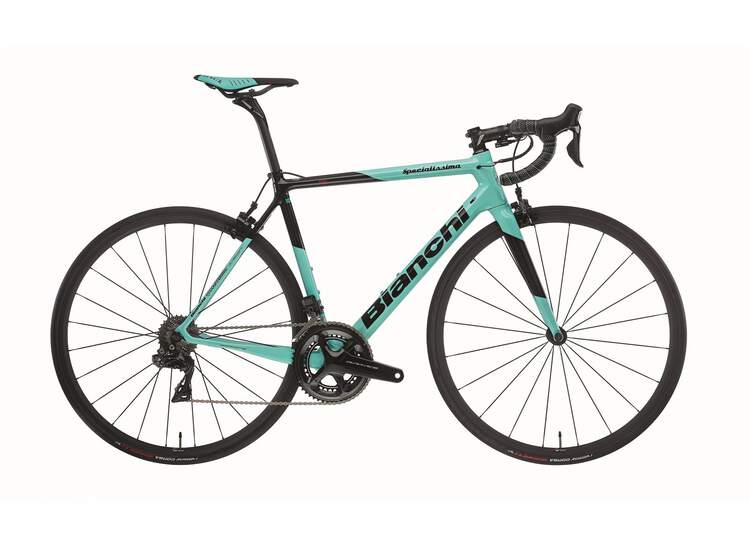Bianchi Rennrad Specialissima - Shimano Dura Ace 11sp Compact - 2020 5K-CK16 / Black Full Glossy 55
