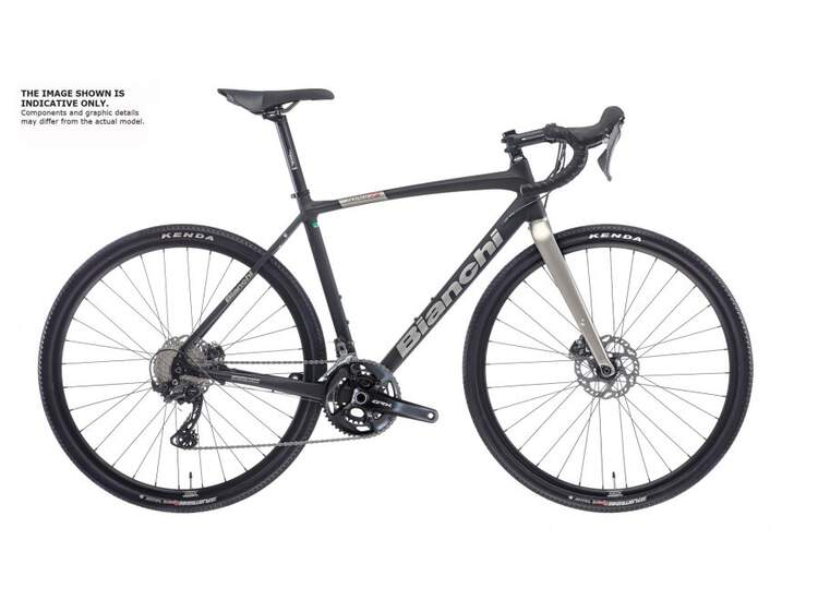 Bianchi Rennrad IMPULSO ALLROAD- GRX600 11sp Hydraulic Disc - 2021 3C - BLACK/TITANIUM FULL MATT 53