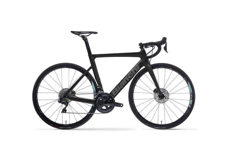 Bianchi Rennrad Aria Aero Disc- 105 11sp Compact - Racing 818 DB - 2021 2R - Black/ Brillant Graphite 50