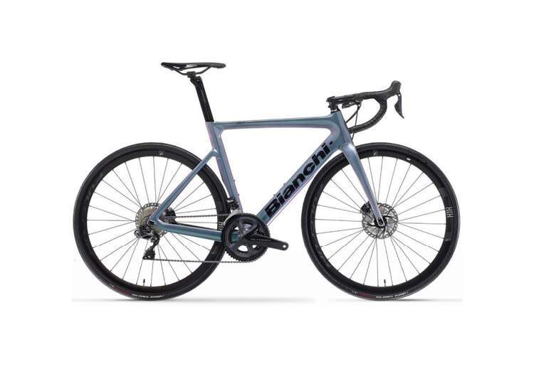 Bianchi Rennrad Aria Aero Disc- Ultegra Di2 11sp Compact - Racing 818 DB - 2021 PX - Summertime dream/Black 57