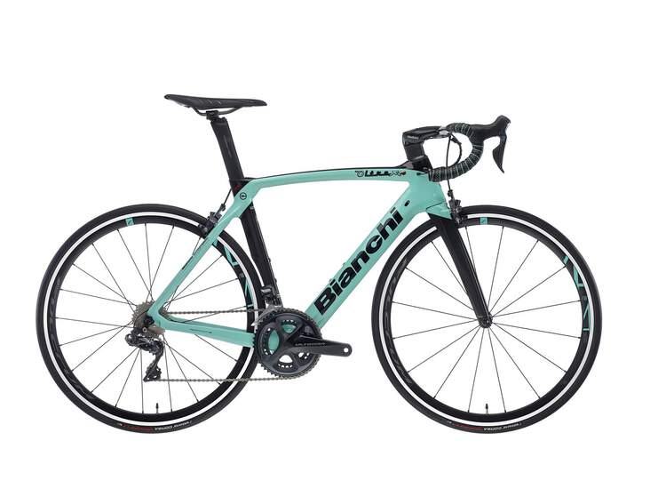 Bianch Rennrad OLTRE XR4- Ultegra Di2 11sp Compact - Vision Trimax 35 - 2021 2R-Black / Graphite Full Glossy 59