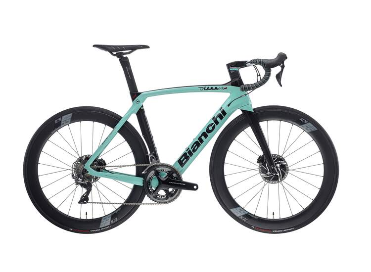 Bianchi Rennrad OLTRE XR4 Disc- Dura Ace 11sp Compact - Vision 55 SC DB - 2021 2R-Black / Graphite Full Glossy 50