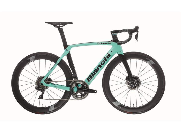 Bianchi Rennrad OLTRE XR4 Disc- Dura Ace Di2 11sp Compact - Vision 55 SC DB - 2021 2R-Black / Graphite Full Glossy 57